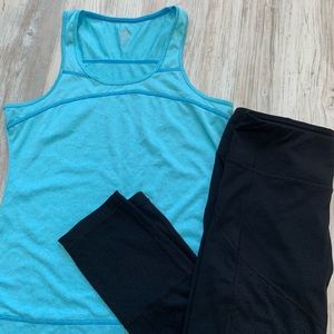 Turquoise workout top